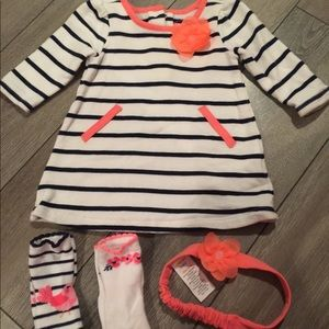 Gymboree Baby Dress w 2 prs of socks and headband